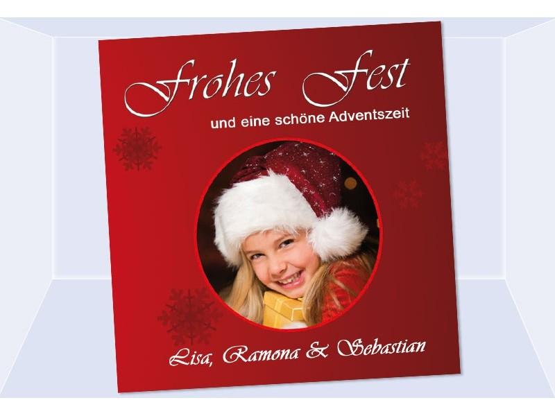 fotokarte weihnachten weihnachtskarte 12 5x12 5 cm rot. Black Bedroom Furniture Sets. Home Design Ideas