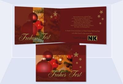 weihnachtskarten gesch ftlich firmen karte weihnachten logo. Black Bedroom Furniture Sets. Home Design Ideas
