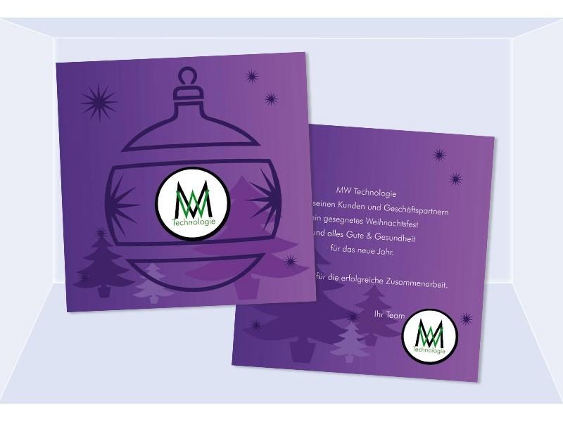 weihnachten weihnachtskarte gesch ftlich karte lila. Black Bedroom Furniture Sets. Home Design Ideas