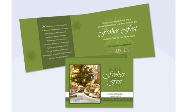 Weihnachtskarten Mit Firmenlogo.Weihnachtskarte Mit Text Eindruck Und Firmenlogo Tannengrün