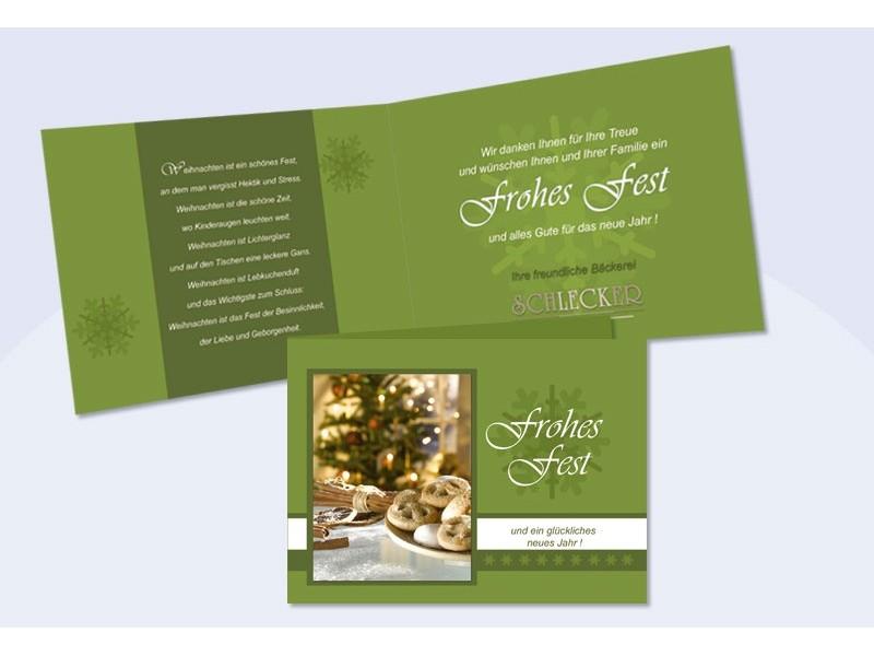 Weihnachtskarte mit text eindruck und firmenlogo for Weihnachtskarten mit firmenlogo