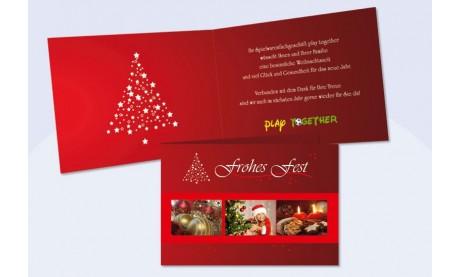 """Weihnachtskarte """"Tannenzauber"""""""