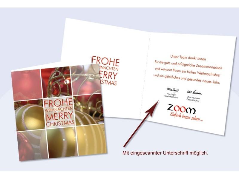 weihnachtskarte firmen mit eingedrucktem text flexibilit t. Black Bedroom Furniture Sets. Home Design Ideas