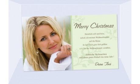 Fotokarte Weihnachten, Weihnachtskarte, 10x18, grün