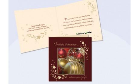 """Weihnachtskarte mit eingedrucktem Text und Logo """"Sternenzauber"""""""