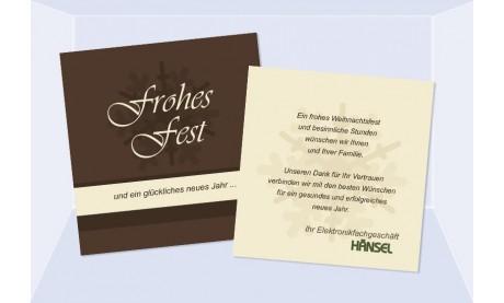 """Weihnachtskarte geschäftlich mit Logo- und Firmeneindruck """"Schokie"""""""