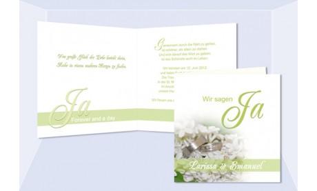 """Einladung Hochzeit """"Sommerfrische"""", Klappkarte Quadrat"""