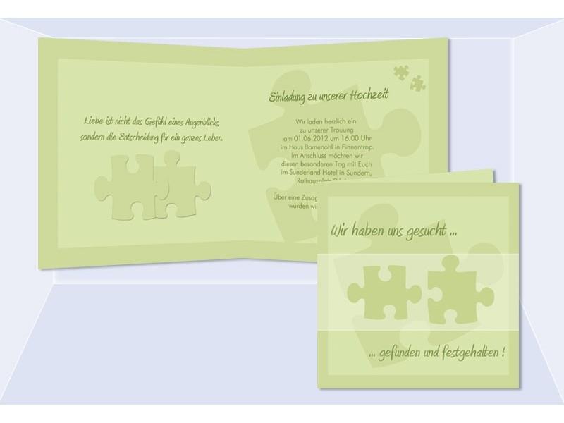Einladungskarten Hochzeit Puzzle – biblesuite