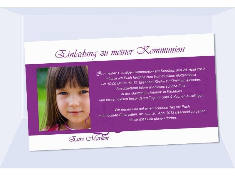 Einladung Kommunion / Konfirmation, Einladungskarte, Fotokarte