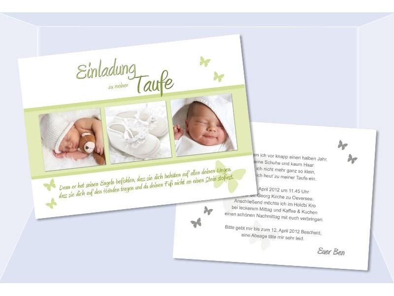 taufkarten: einladungen taufe (2) - sagesmitherz.de, Einladung