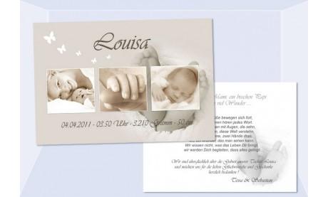 "Danksagung Geburt ""Babyfüßchen"" 10x15 cm"