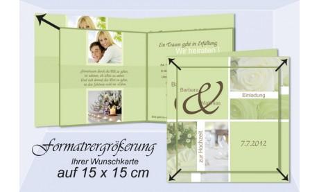 Klappkarte 15 x 15 cm - Vergrößerung Ihrer Wunschkarte (Klappkarte)