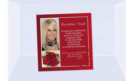 Danksagung Kommunion / Konfirmation, Fotokarte quadratisch