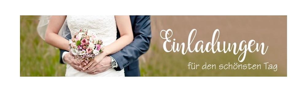 Einladungskarten Hochzeit, Hochzeitseinladungen inkl. gratis Gestaltungsservice