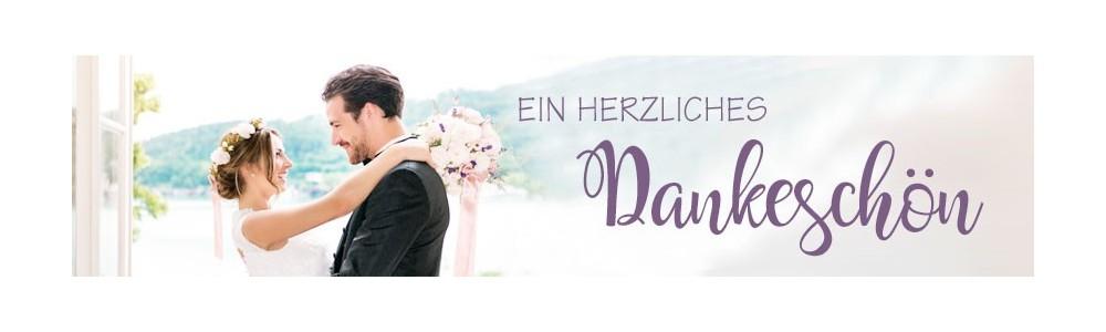 Hochzeit Danksagungsagungskarten - Dankeskarten mit gratis Gestaltung