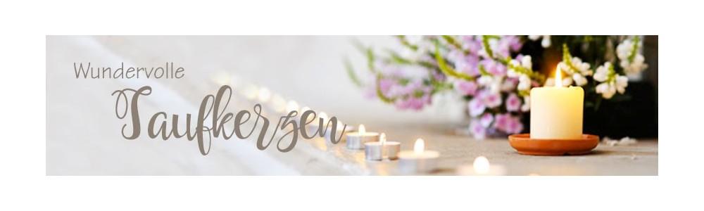 Taufkerze mit Foto, Kerze zur Taufe, Taufgeschenk