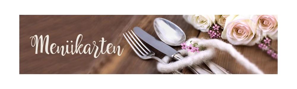 Menükarten für Ihre Hochzeitspapeterie
