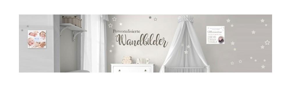 Baby Leinwand - Wandbild mit Geburtsdaten - personalisiert
