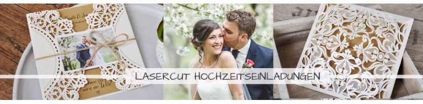 Einladungskarten Hochzeit Lasercut - gratis Gestaltungsservice!