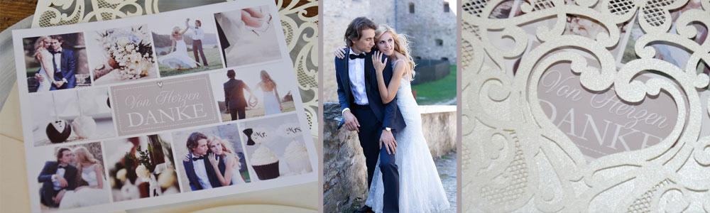 Dankeskarte Hochzeit Vintage jetzt kostenlos gestalten lassen