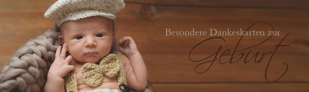 Danksagungskarten zur Geburt