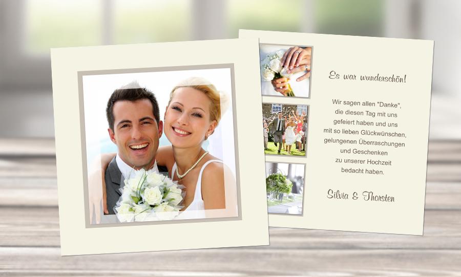 """Dankestexte Hochzeit """"Es war wunderschön"""""""
