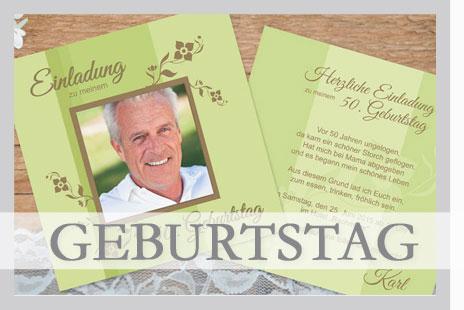 Wir erstellen Ihre ganz persönlichen Einladungskarten zum Geburtstag