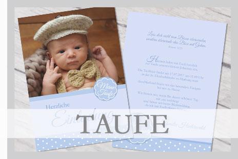 Wir gestalten Ihre ganz individuellen Taufeinladungskarten