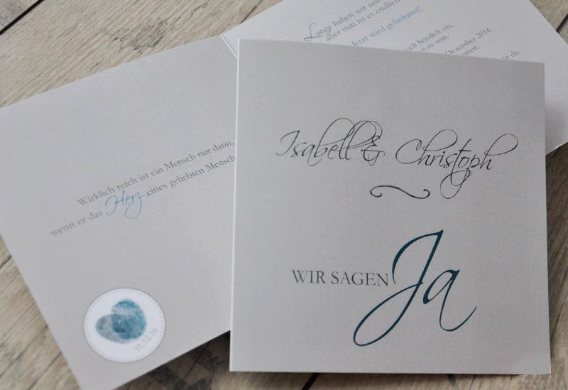 """Einladungstext Hochzeit """"Wir sagen Ja"""""""