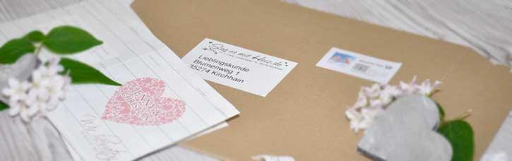 Versandkostenfreie Lieferung innerhalb Deutschland
