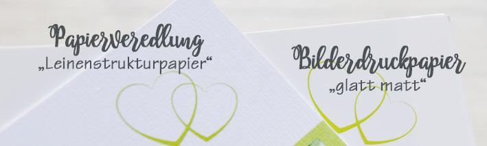 Papierveredlung Leinenstrukturkarten - Bilderdruckpapier