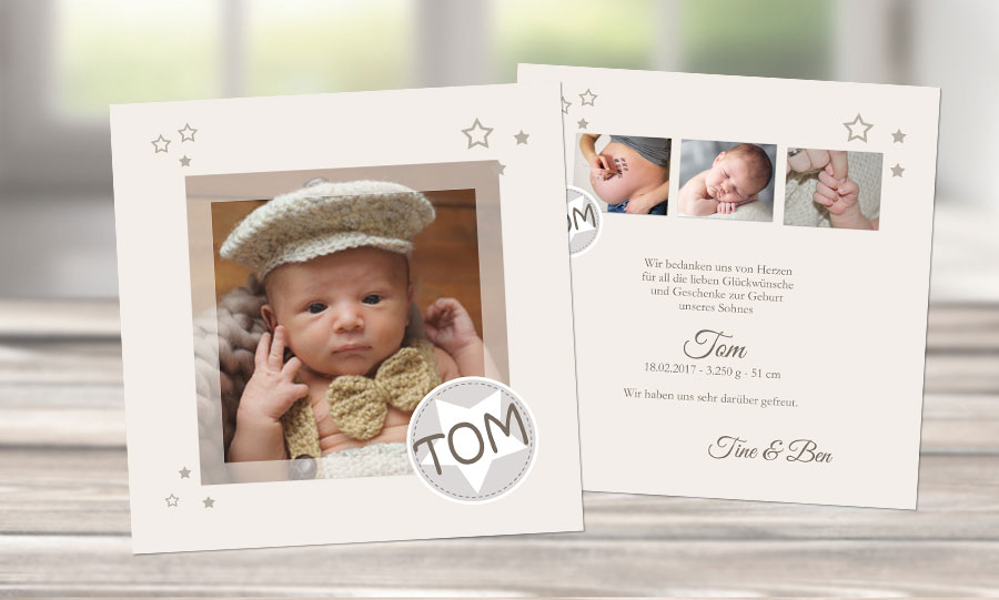 Text Geburtskarten Baby