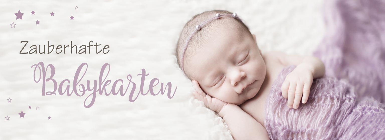 Wir gestalten Ihnen zauberhafte Dankeskarten zur Geburt Ihres Babys:  persönlich - professionell - preiswert