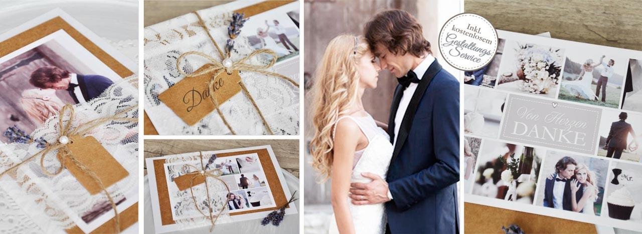Wundervolle Dankeskarten zu Ihrer Hochzeit im Vintage Style